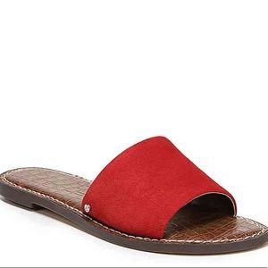 Sam Edelman Red Gio Slide Sandals